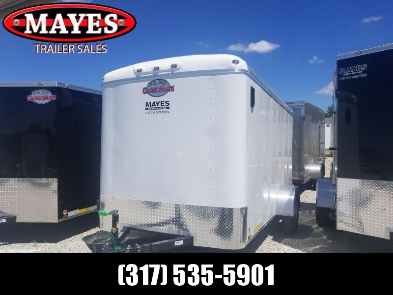 2018 6x12 Cargo Mate BL612SA Enclosed Cargo Trailer - White (DD)(GVW: 2990)