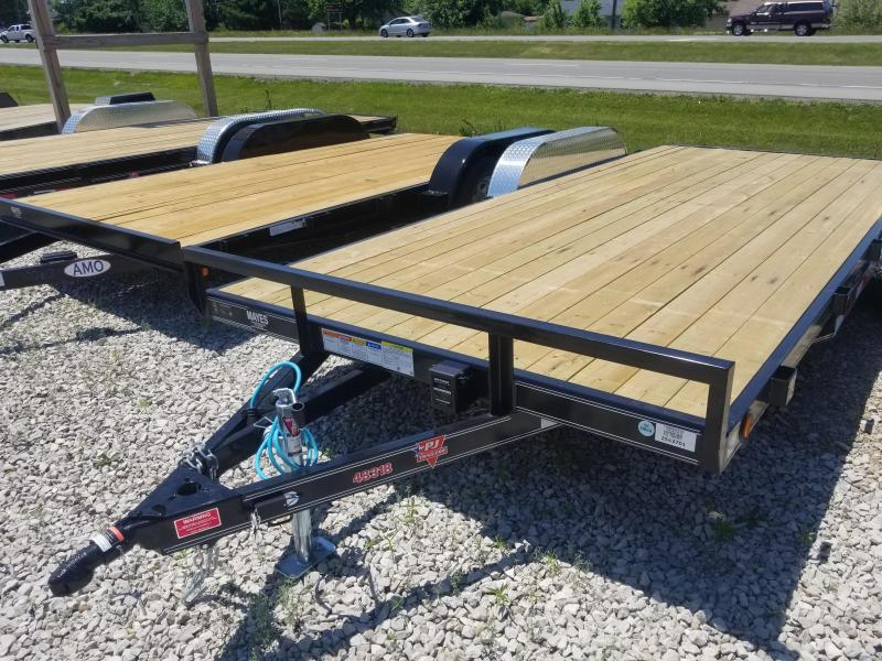 "2019 83x18(16+2' Dovetail) PJ Trailers C4 4"" Channel Carhauler Trailer - w/ 5' Slide-in Ramps (GVW: 7000)"