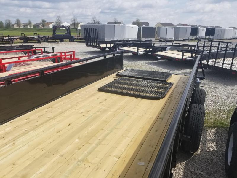 "2019 83x18 PJ Trailers UL 83"" Tndm Axle Channel Utility Trailer - Straight Deck w/ Split Gate (GVW: 9899)(22"" Solid Metal Sides)"