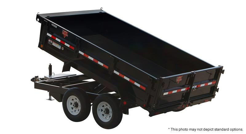 "2019 83x14 PJ Trailers D7 83"" Tandem Axle Dump Trailer - (Split/Spreader Gate)(Tarp Kit)(GVW: 14000)(Mount for Spare ONLY)"