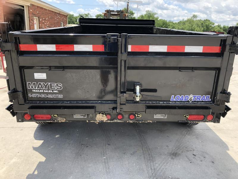 2019 72x12 TA Load Trail Dump Trailer - 3-Way Gate - Slide In Rear Ramps - Scissor Hoist (GVW:  9990)