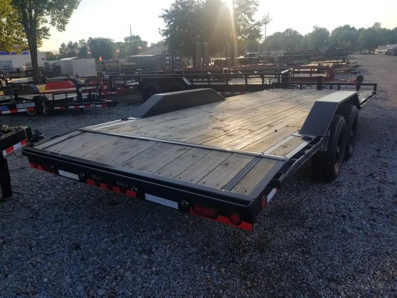 2019 102x22(20+2' Dovetail) Load Trail CH22 Tandem Axle Equipment Hauler - w/ 5' Slide-in Ramps (GVW: 14000) *Driver-over Fenders*