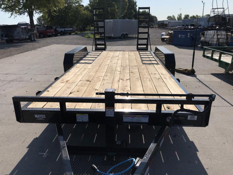 2020 83x18 (16+2) TA PJ Trailers CC182 Equipment Trailer - 6 Inch Channel - 5 Foot Fold Up Ramps (GVW:  14000)