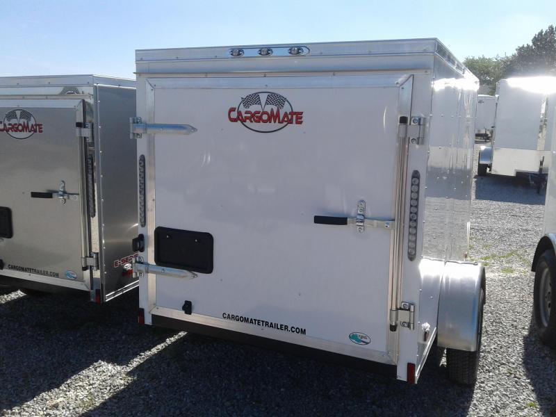 2019 5x8 Cargo Mate SS58SA Enclosed Cargo Trailer - Polar White (Rear Swing Door)(GVW: 2000)