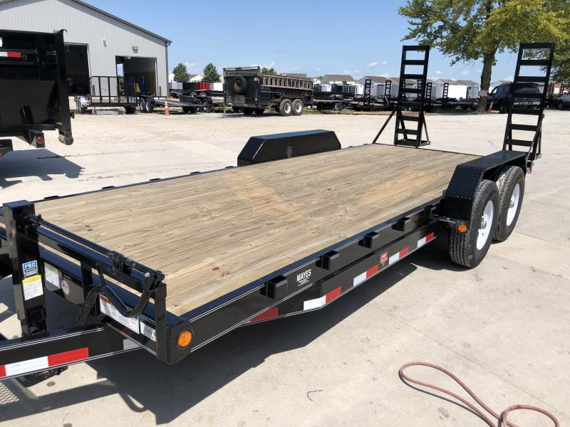 2020 83x20 (18+2) TA PJ Trailers CC202 Equipment Trailer - Fold Up Ramps - Spare Tire MOUNT ONLY (GVW:  14000)