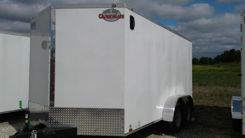 2019 7x14 TA Cargo Mate EHW714TA2 Enclosed Cargo Trailer - Double Door (GVW:  7000)