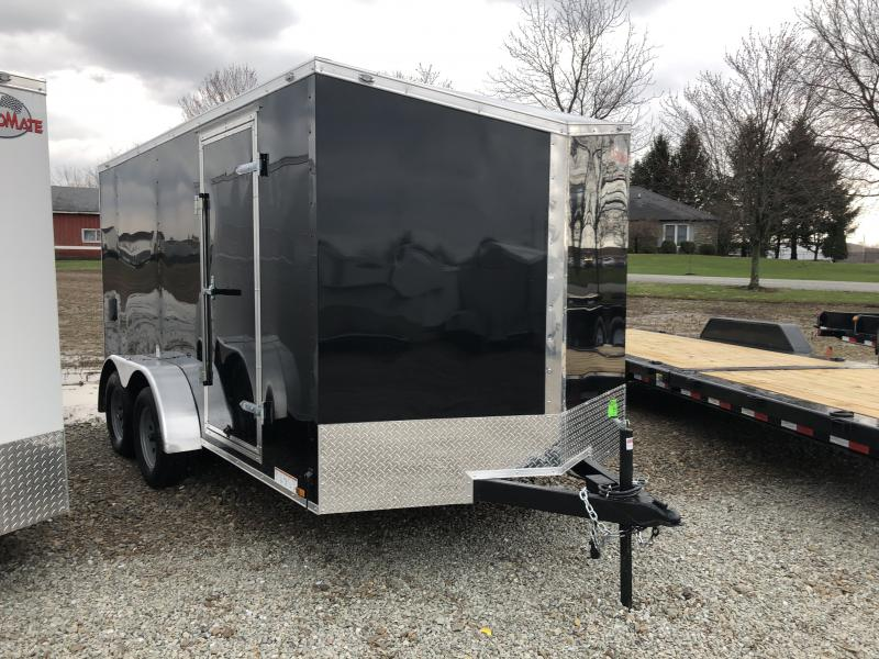 2019 7x14 Cargo Mate EHW714TA2 Enclosed Cargo Trailer - Black (RD)(GVW: 7000)