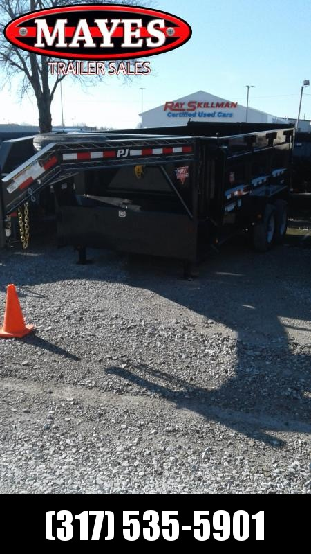 "2020 83x14 Gooseneck PJ Trailers DM142 Dump Trailer - Low Pro High Side - 6"" Cylinder Upgrade (GVW:  15680)"