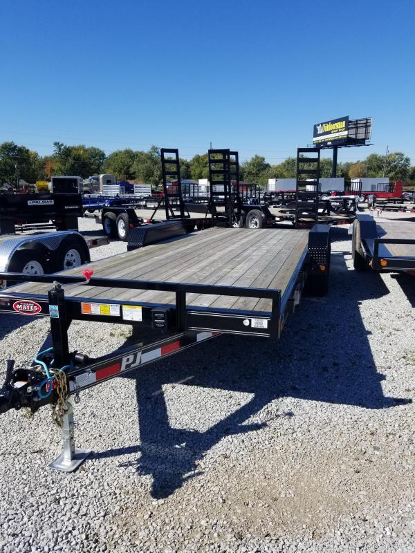 2018 83x20 PJ Trailers CE Equipment Trailer - Straight Deck w/ 2 Fold-up Ramps (GVW: 9899)