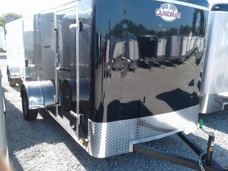 2019 6x12 Cargo Mate BL612SA Enclosed Cargo Trailer - Black (RD)(GVW: 2990)