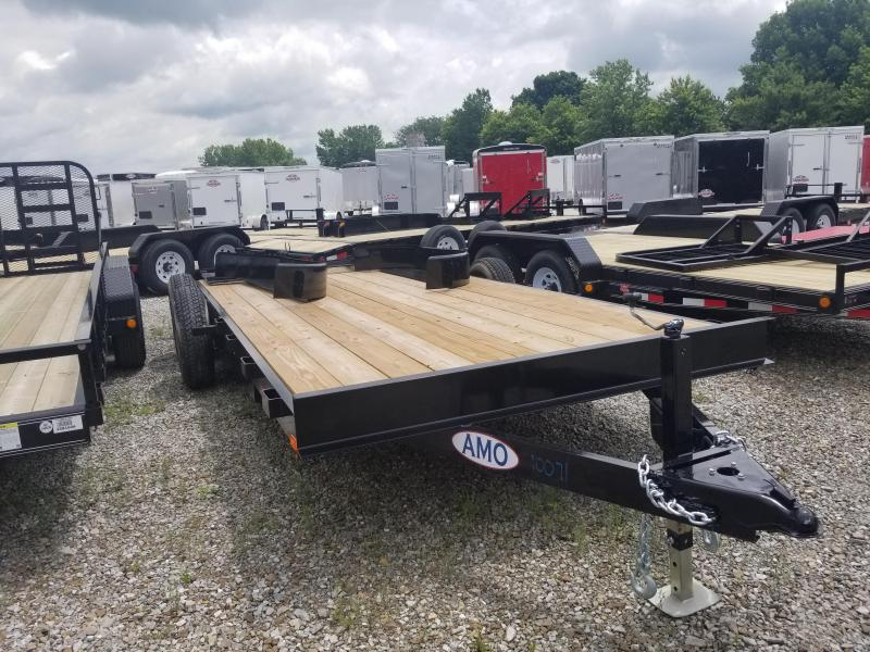 2018 82x18(16+2 Dovetail) American Manufacturing Operations A9918CE Equipment Trailer - w/ HD Split Gate (GVW: 9990)