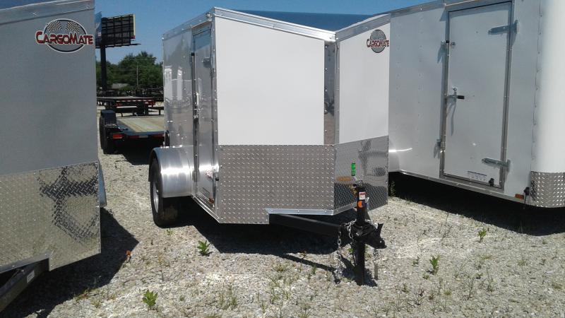 2020 5x8 SA Cargo Mate EHW58SA Enclosed Cargo Trailer - 1 Rear Door - Slant V-Nose (GVW:  2990)