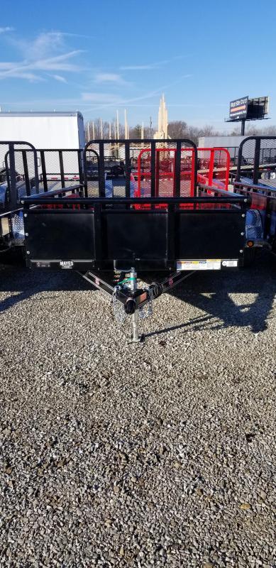 "2019 77x12 PJ Trailers U7 77"" Single Axle Channel Utility Trailer - w/ 22"" Solid Metal Sides (GVW: 2995)"