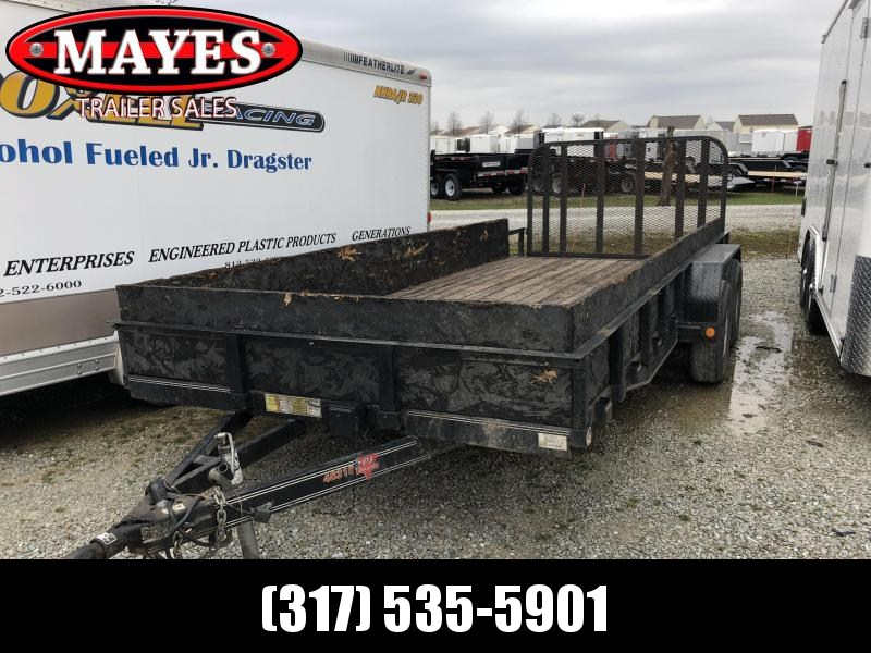 2014 83x18(16+2' Dovetail) PJ Trailers UL Utility Trailer - w/ 4' Fold-up Gate (GVW: 9899) *USED*