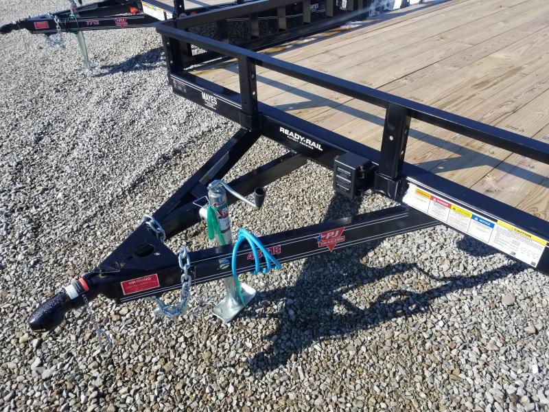 "2019 PJ Trailers 18'x83"" Tndm Axle Channel Utility Trailer - Rear Gate - ATV Ramps (GVW:  7000)"