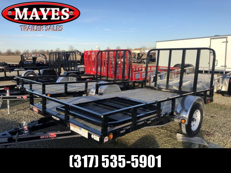 2018 83x12 PJ Trailers U8 Trailer - Straight Deck w/ 4' Fold-up Gate (GVW: 2995)(4ft Side Gate)