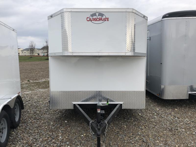 2018 7x14 Cargo Mate EHW714TA2 Enclosed Cargo Trailer - Polar White (RD)(GVW: 7000)