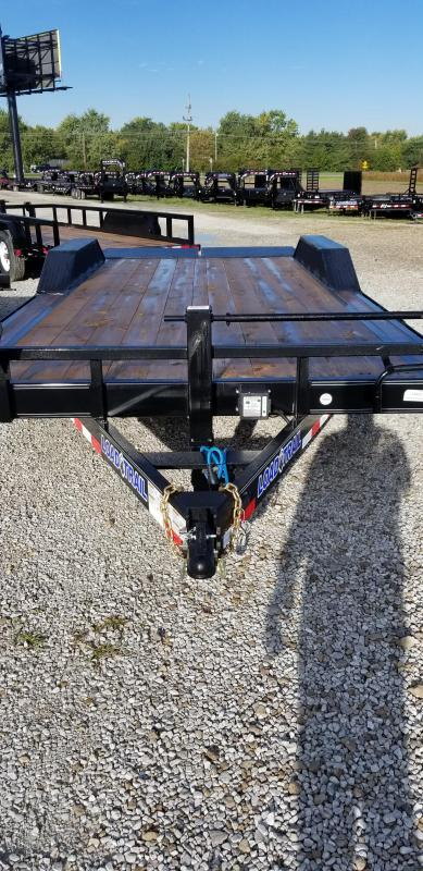 2019 102x20(18+2' Dovetail) Load Trail CH20 Tandem Axle Equipment Hauler Trailer - w/ MAX Ramps (GVW: 14000) *Drive-over Fenders*