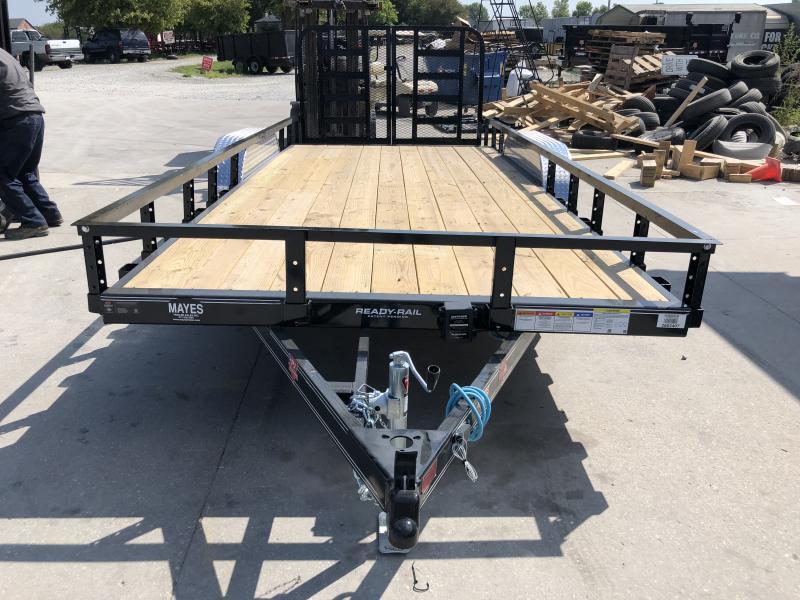 2020 83x18 (16+2) TA PJ Trailers UL182 Utility Trailer - Dovetail - Split HD Gate (GVW:  7000)
