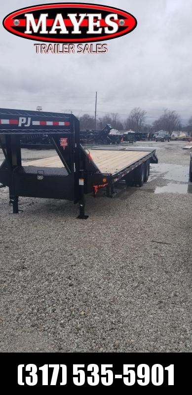 2019 102x25 20+5 PJ Trailers FD252 Equipment Trailer - Gooseneck - Monster Ramps (GVW:  25000)