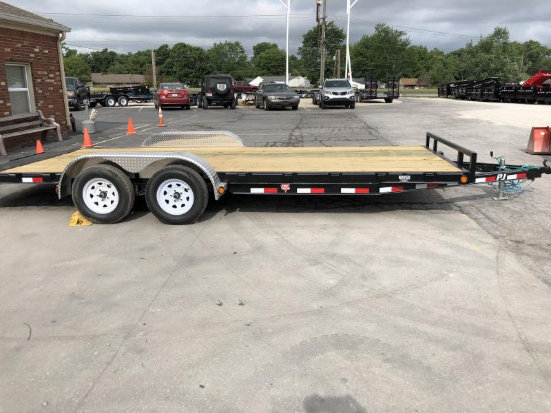 2020 20 (18+2) x 5 Inch Channel CH PJ Trailers C5202 Car / Racing Trailer -  Rear Slide In Ramps (GVW:  7000)