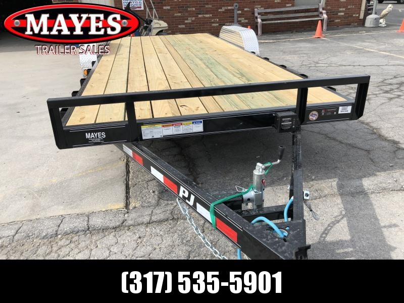 2020 83x20 (18+2) x 5 Inch Channel CH PJ Trailers C5202 Car / Racing Trailer -  Rear Slide In Ramps (GVW:  7000)