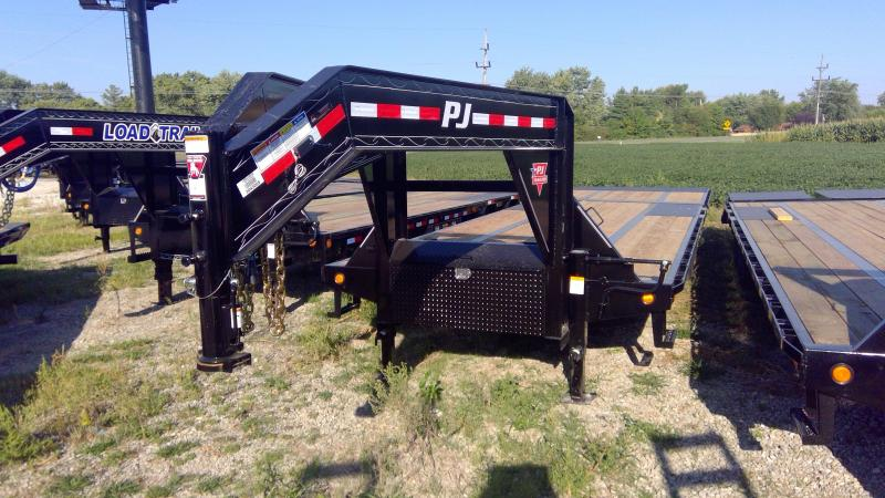 2020 102x32 Foot PJ Trailers LY322 Equipment Trailer - Tool Box - Gooseneck - Hydraulic Dove (GVW:  25000)