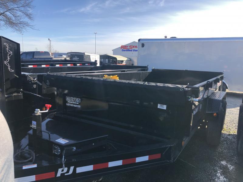 2019 83x14 Low Pro PJ Trailers DL142 Dump Trailer - Split/Spread Gate and Tarp Kit (GVW:  14000)