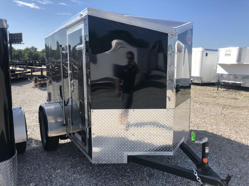 2019 5x8 Cargo Mate EHW58SA Enclosed Cargo Trailer - Black (DD)(GVW: 2990)