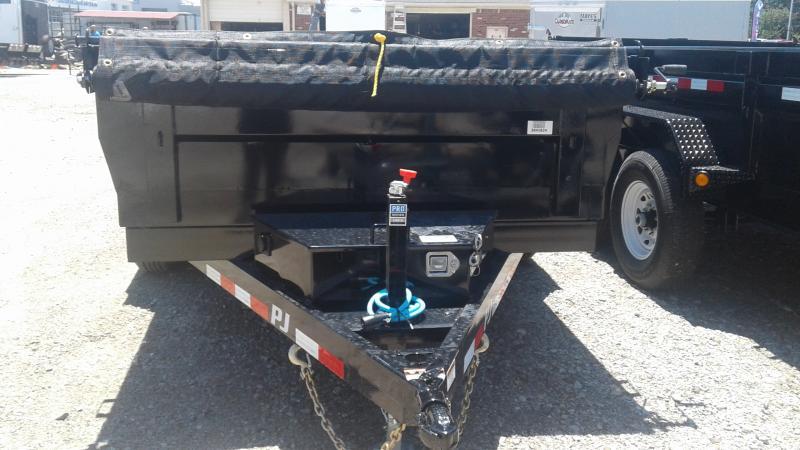 2020 72x12 TA PJ Trailers D3122 Dump Trailer - Split Gate - Tarp Kit (GVW:  9899)