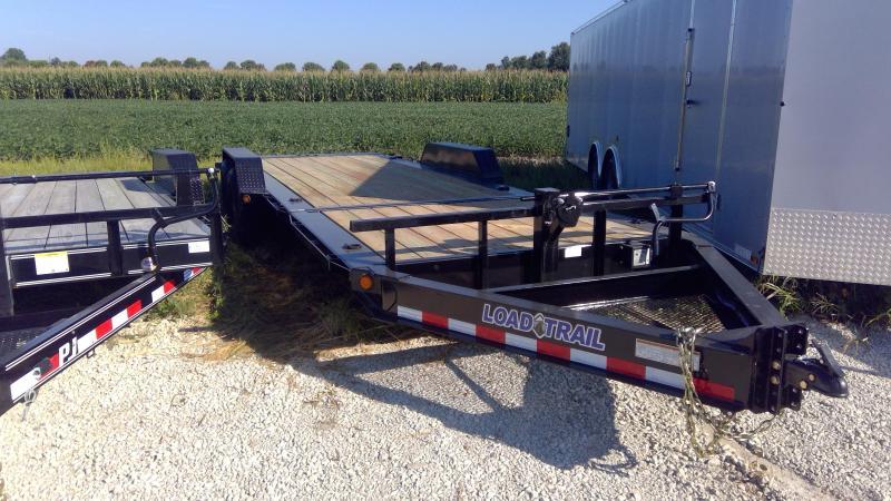 2019 83x22 (6+16) Tilt-N-Go Load Trail TH8322072 Equipment Trailer - D-Rings - Tool Tray - 2 Inch Rub Rail (GVW:  14000)