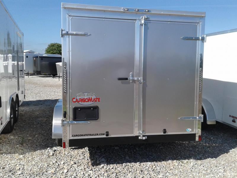 2019 7x14 Cargo Mate EHW714TA2 Enclosed Cargo Trailer - Light Metallic Pewter (DD)(GVW: 7000)