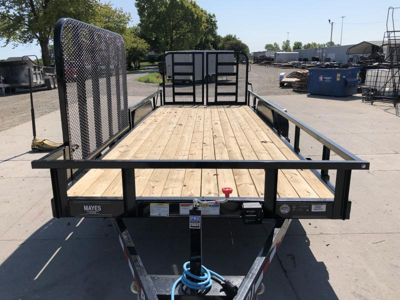 2020 20 Foot (18+2) TA PJ Trailers CE202 Car / Racing Trailer - Split HD Gate - 2x2 Square Tube Removable Siderails - 83 Inch Side Gate on Pass Side  (GVW:  9899)