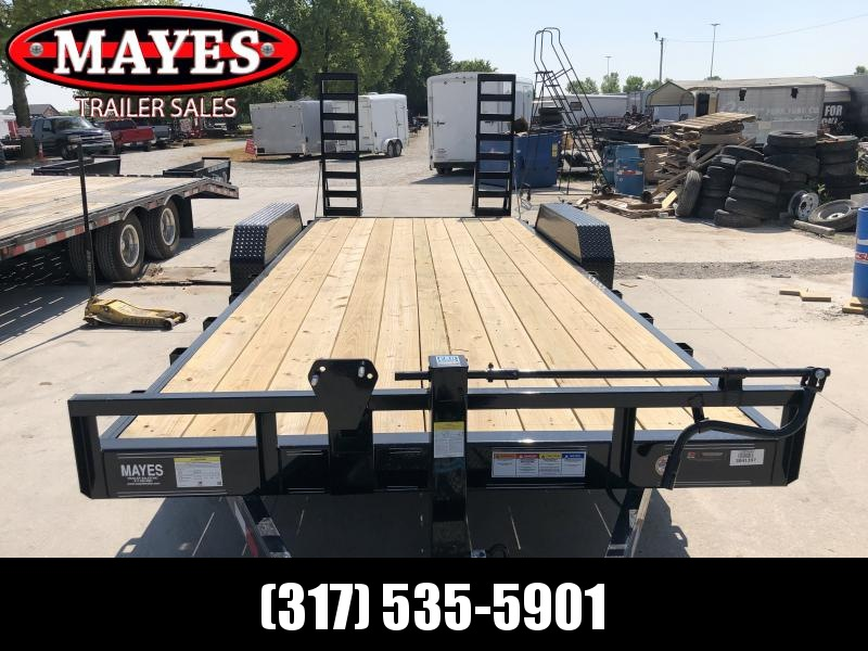 2020 83x20(18+2) TA PJ Trailers CC202 Equipment Trailer - Dovetail - Fold-Up Ramps (GVW:  14000)