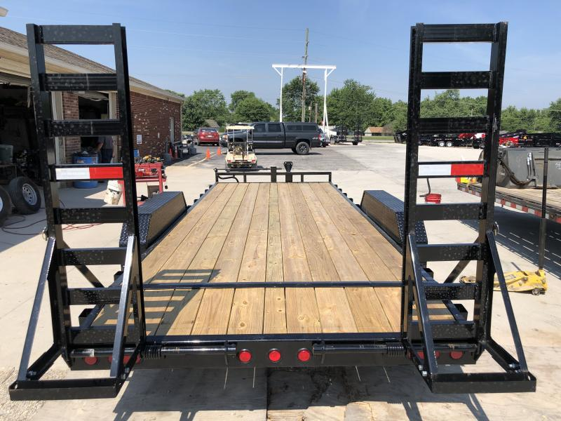 2020 83x20(18+2) TA PJ Trailers CC202 Equipment Trailer - Dovetail - Fold-Up Ramps (GVW:  14000)