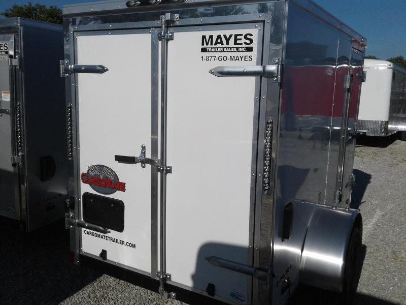 "2019 5x8 Cargo Mate EHW508SA Enclosed Cargo Trailer - White (RD)(GVW: 2990)(6"" Extra Height)"