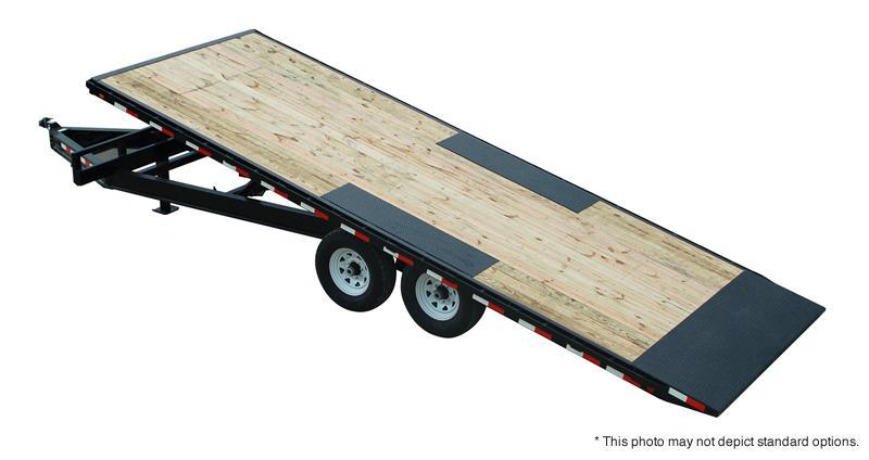 """2020 102""""x28' (6+22) PJ Trailers 28' Deckover Tilt Trailer - Frame Bridge - Rough Oak Floor (GVW:  15680)"""