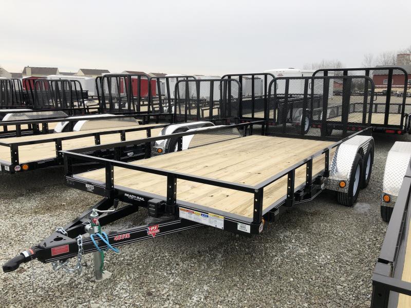 2019 83x16 (14+2) PJ Trailers UL162 Utility Trailer - 4' Tailgate (GVW:  7000)
