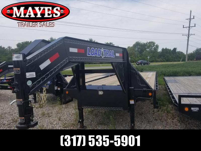 2019 102x36(31+5' Dovetail) Load Trail GH36 Flatbed Trailer - w/ Max Ramps (GVW: 24000)Gooseneck