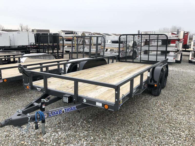 2019 83x16 Load Trail Tandem Axle Utility Trailer - w/ 4' Fold Gate (GVW: 7000) *Gray Powdercoat*
