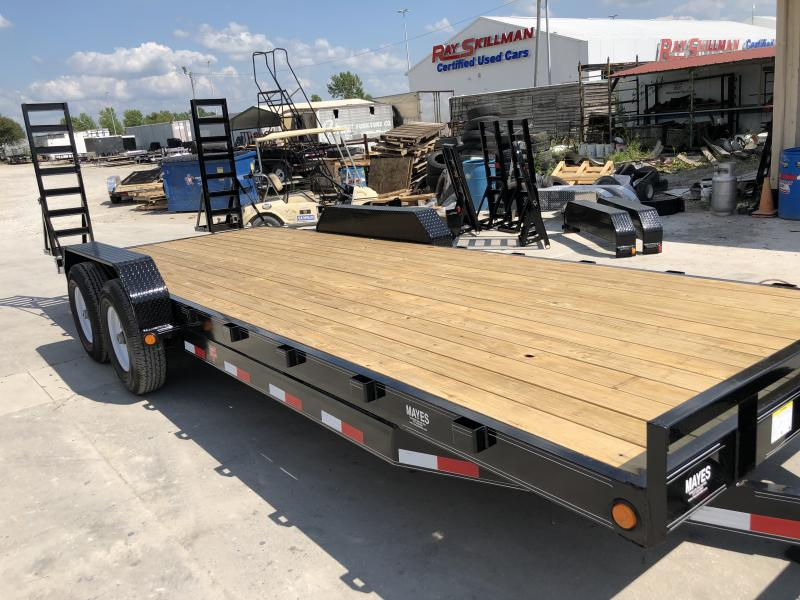 2020 22 Foot (20+2) TA PJ Trailers CC222 Equipment Trailer - Fold Up Ramps (GVW:  14000)