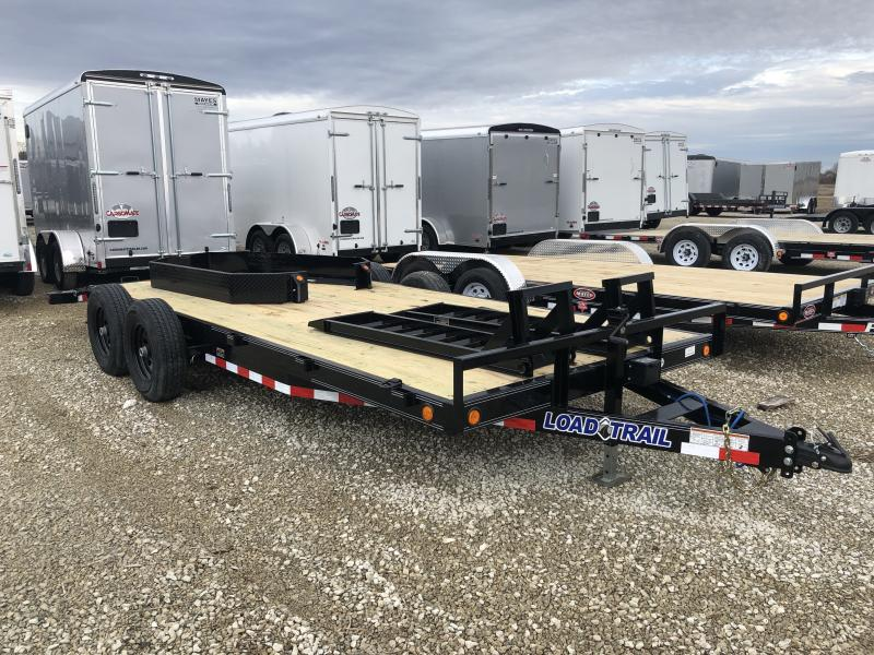 2019 83x18(16+2) Load Trail Tandem Axle Carhauler Car / Racing Trailer - Fold Up Ramps (GVW:  9990)