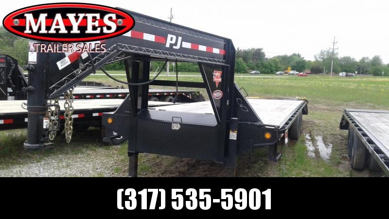 2018 32' (27+5) PJ Trailers FD322 Goose Equipment Trailer - Flip Over Monster Ramps (GVW:  25000)