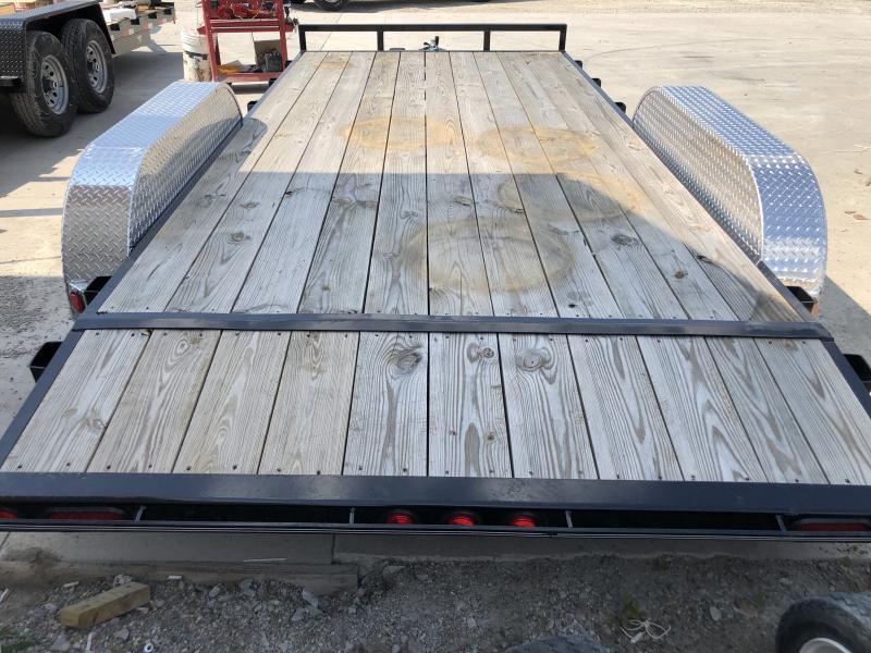 2019 83x16(14+2' Dovetail) C4 Car Hauler PJ Trailers  - w/ 5' Slide-in Ramps (GVW: 7000)