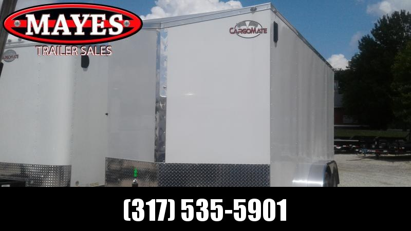 2020 7x16 TA Cargo Mate EHW716TA2 Enclosed Cargo Trailer - 12 Inch Additional Height - Ramp Door - Spring Suspension (GVW:  7000)