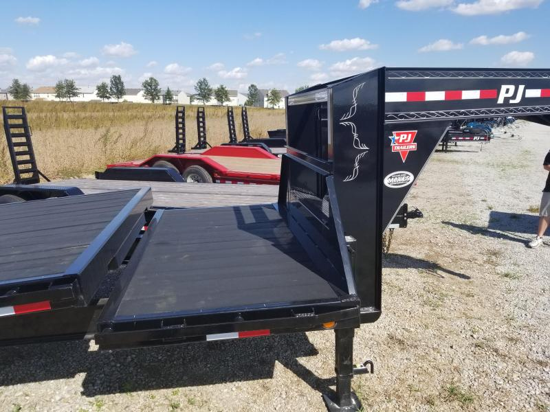 Cash or Check  Price 2018 102x26 (22' Tilt + 4' Stationary) PJ Trailers  ** Gooseneck ** T8 Deckover Tilt Trailer - (GVW: 16000)(Blackwood Pro Full Deck)
