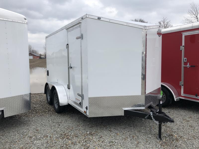 2019 7x12 Cargo Mate EHW712TA2 Enclosed Cargo Trailer - Polar White (RD)(GVW: 7000)
