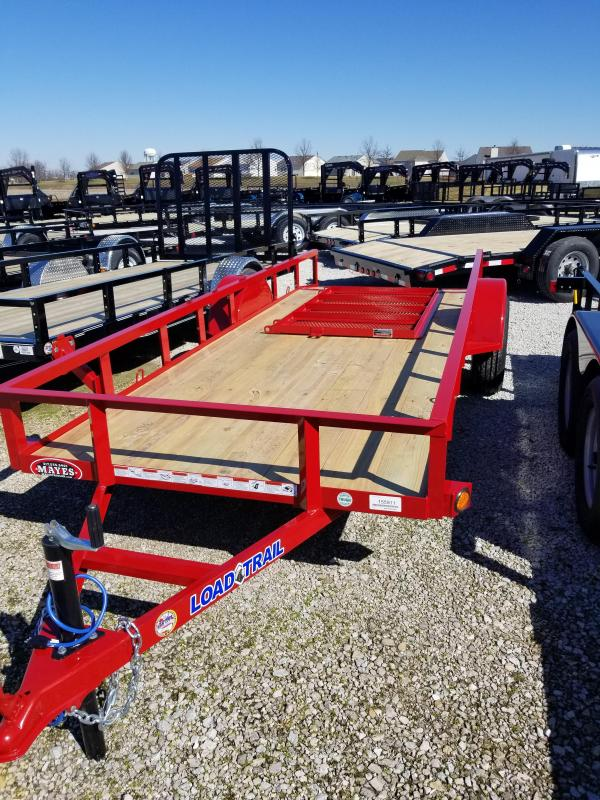 2018 5x14 Load Trail SE Utility Trailer - w/ 4' Fold-in Gate (GVW: 2990) *Red Powdercoat*