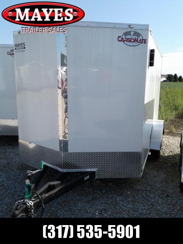 "2019 7x14 Cargo Mate EHW714TA2 Enclosed Cargo Trailer - White (RD)(GVW: 7000) 6"" of Extra Height"