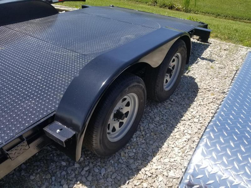 2019 82x18 American Manufacturing Operations AFD18BB Car / Racing Trailer - w/ 5' Slide-in Ramps (GVW: 7000) *Steel Floor*